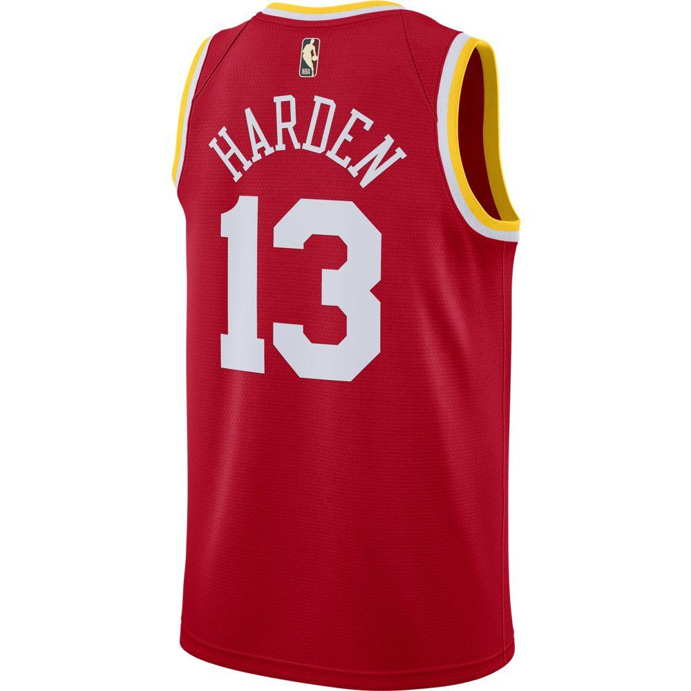 NBA Houston Rockets James Harden Nike Hardwood Classics Swingman Jersey - Red