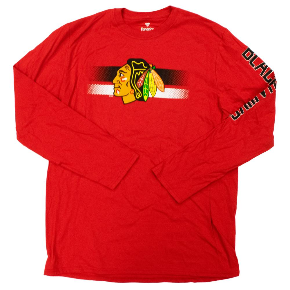 NHL Chicago Blackhawks Fanatics Halftime Long Sleeve Tee - Red