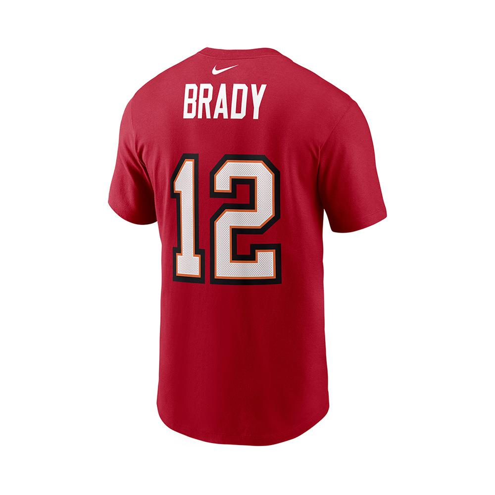 NFL Tampa Bay Buccaneers Tom Brady Youth Nike Super Bowl LV Name & Number Tee - Red
