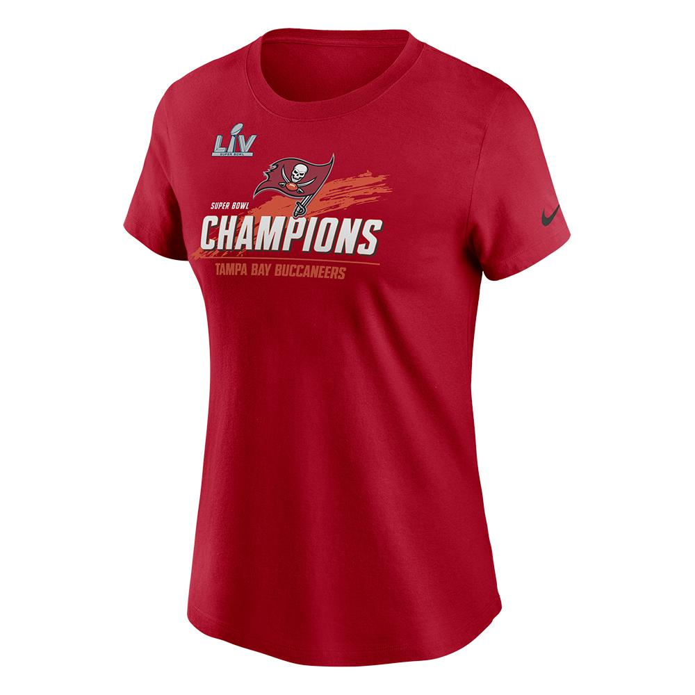 NFL Tampa Bay Buccaneers Women's Nike Super Bowl LV Champ Touchdown Crew Tee - Red