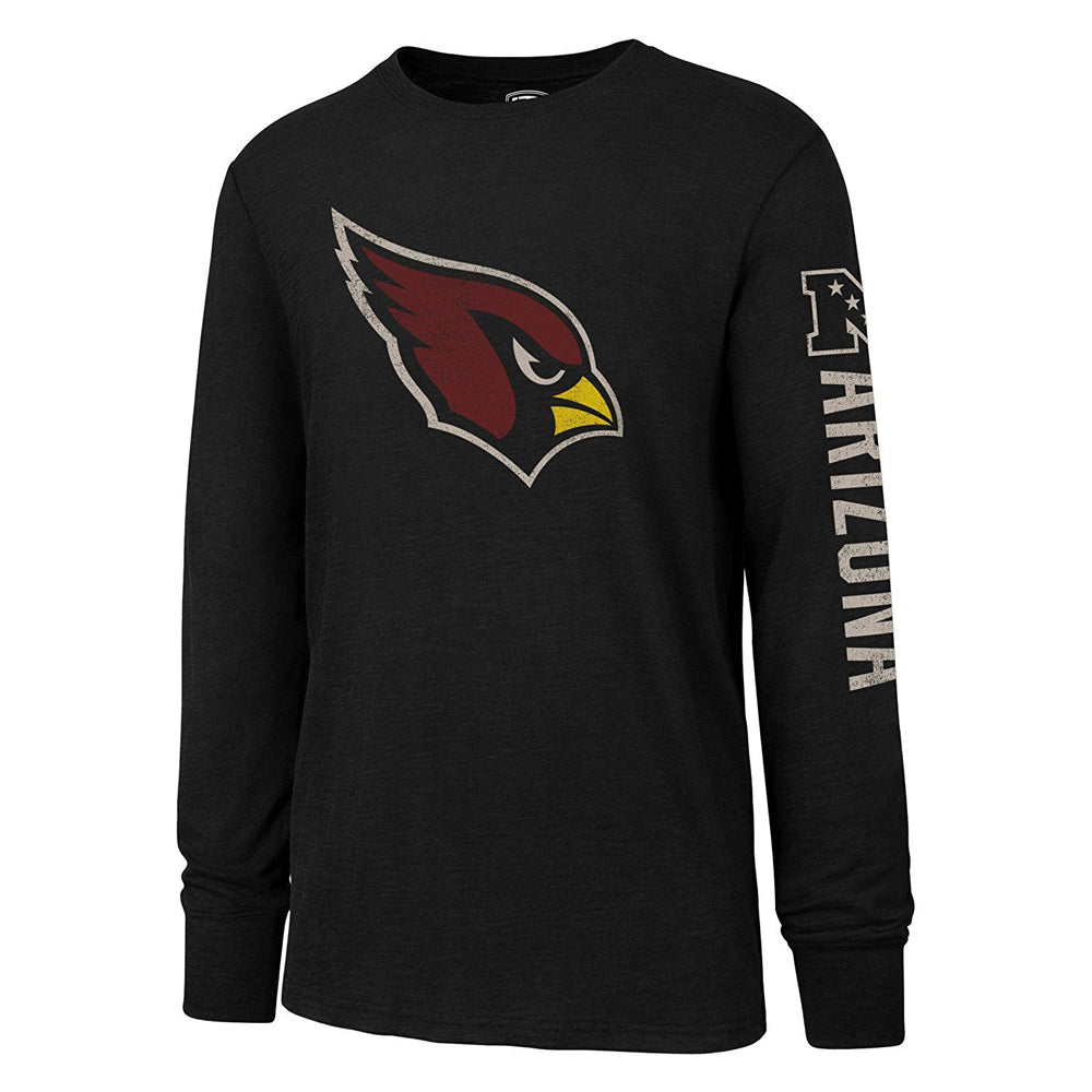 NFL Arizona Cardinals '47 Distressed Long Sleeve Tee - Black
