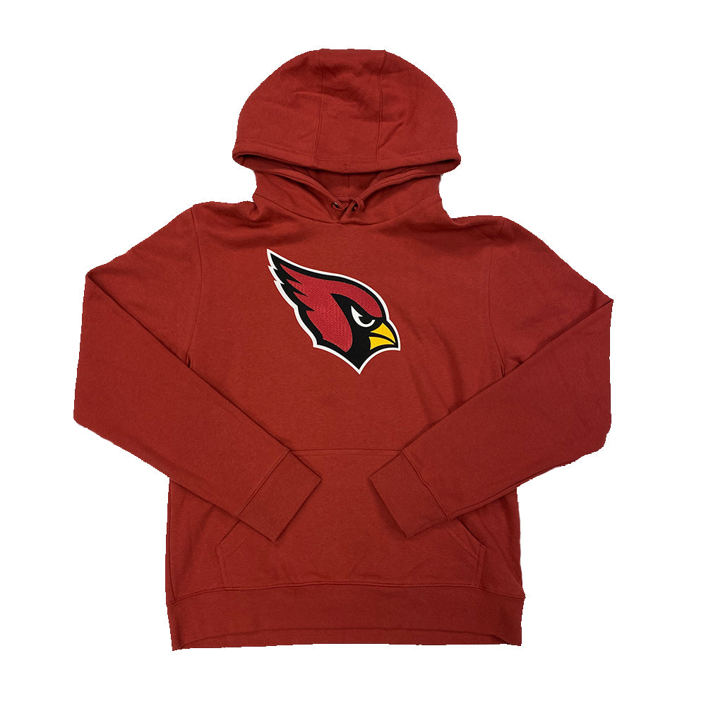 NFL Arizona Cardinals Fanatics Logo Tech Raised Patch Hoodie - Red