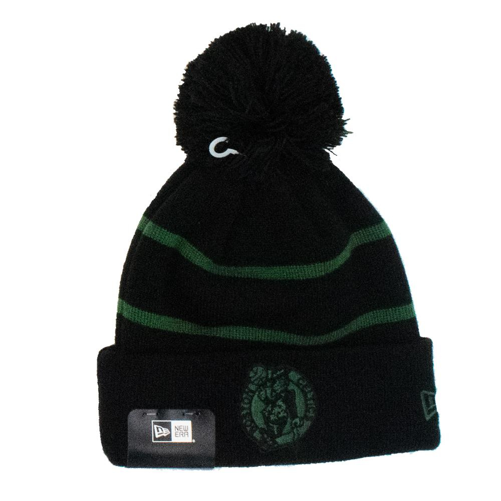 NBA Boston Celtics New Era Tonal Stripe Knit - Black
