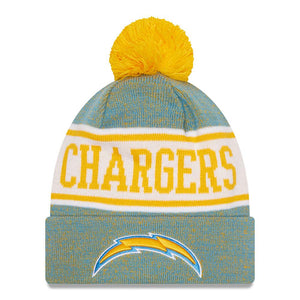 NFL Los Angeles Chargers New Era Banner Knit - Blue/Yellow