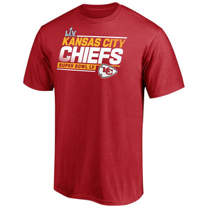 NFL Kansas City Chiefs Fanatics Super Bowl LV Play Action Roster Tee - Red