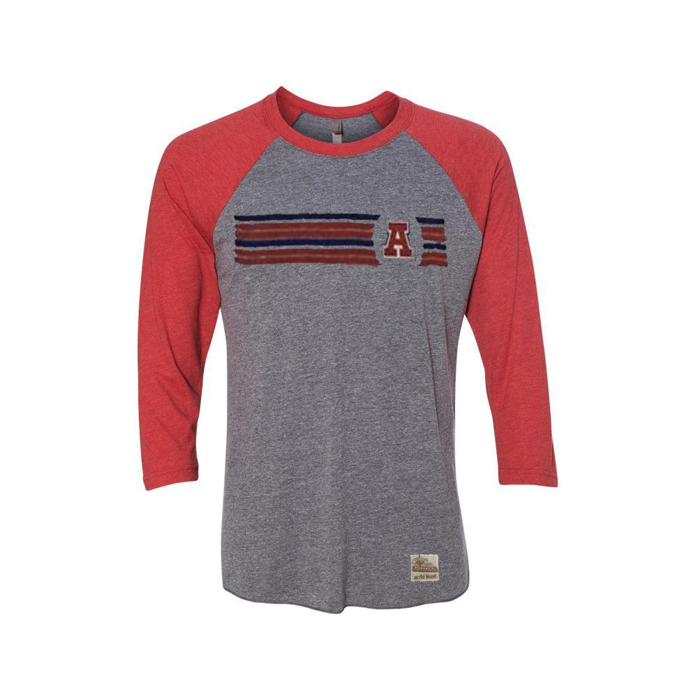 NCAA ARIZONA WILDCATS CONTRAST LS RETRO BRAND RAGLAN - GREY