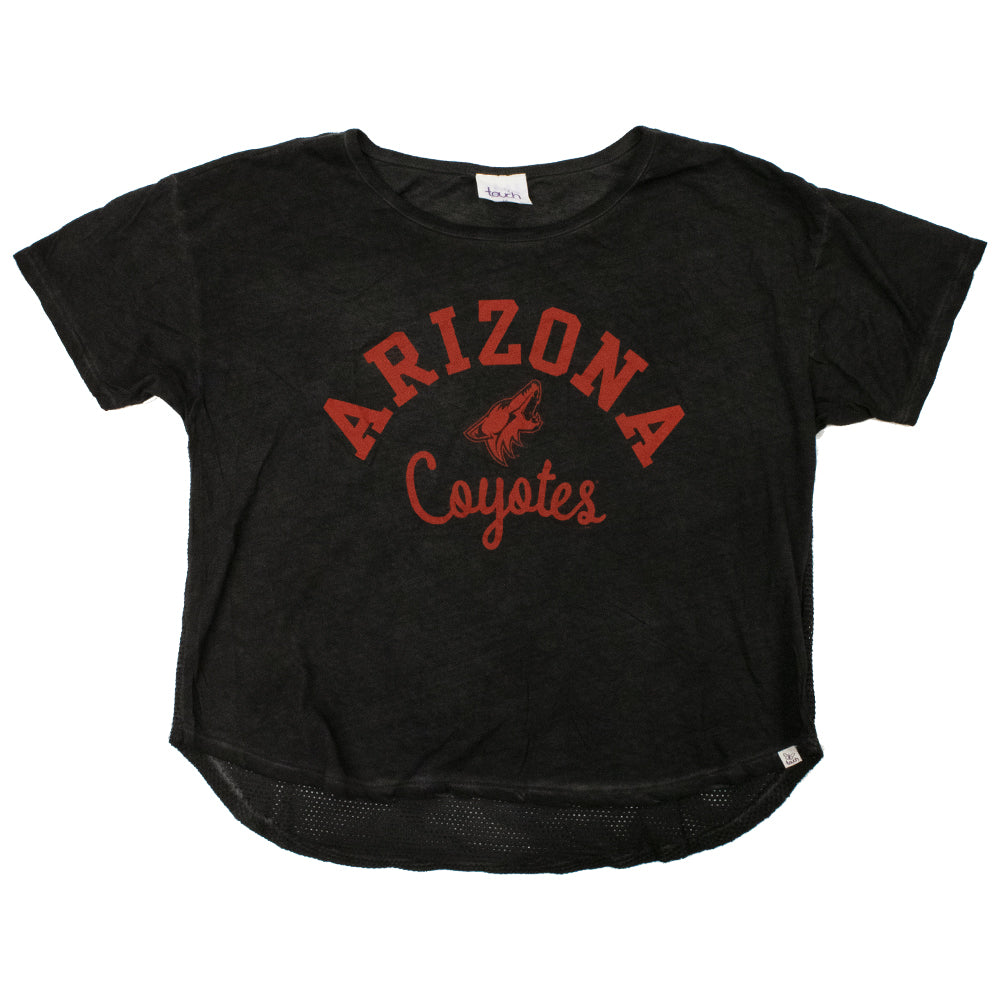 NHL Arizona Coyotes Women's G3 Arch Logo Mesh Tee - Black