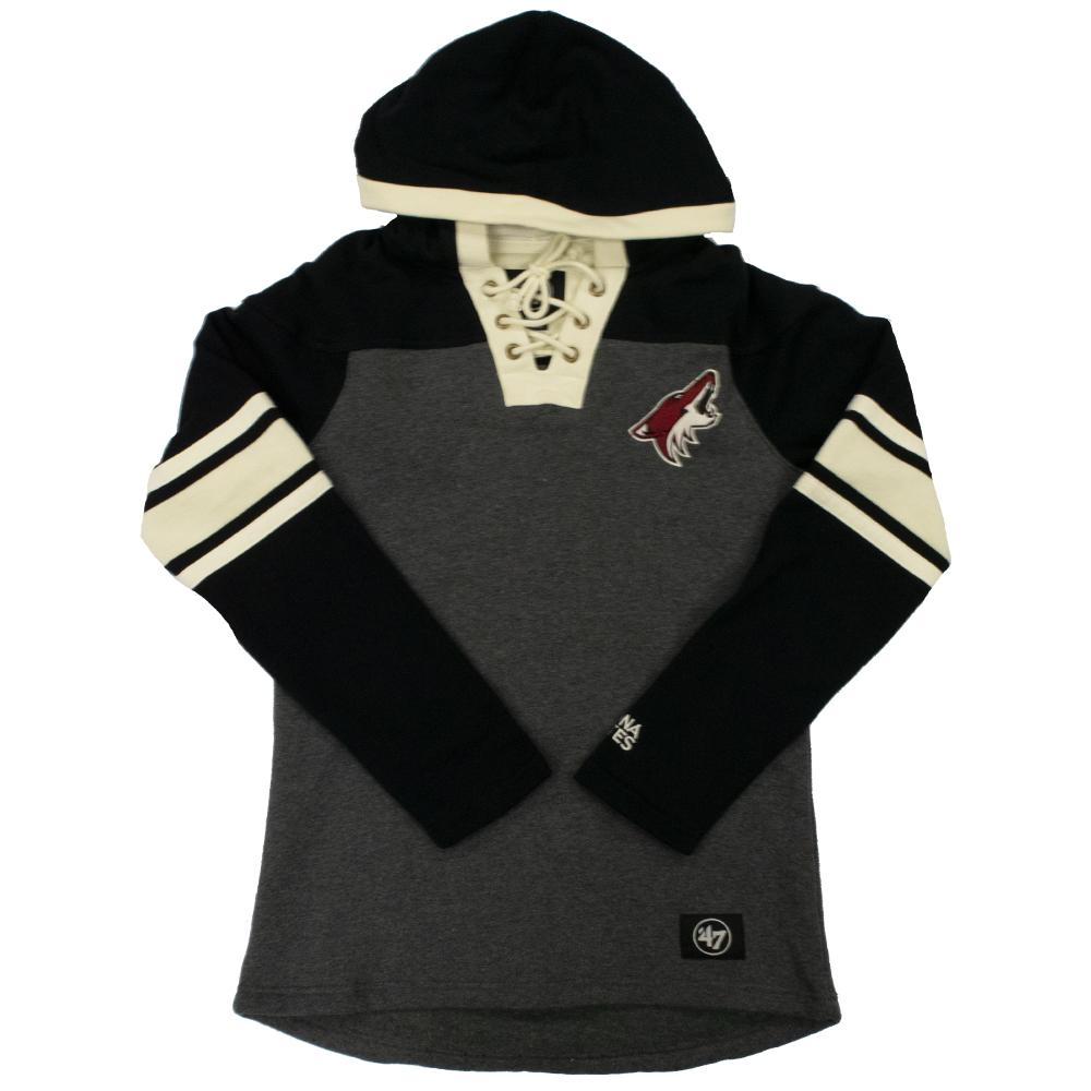 NHL Arizona Coyotes Women's '47 Lace Up Hood - Gray