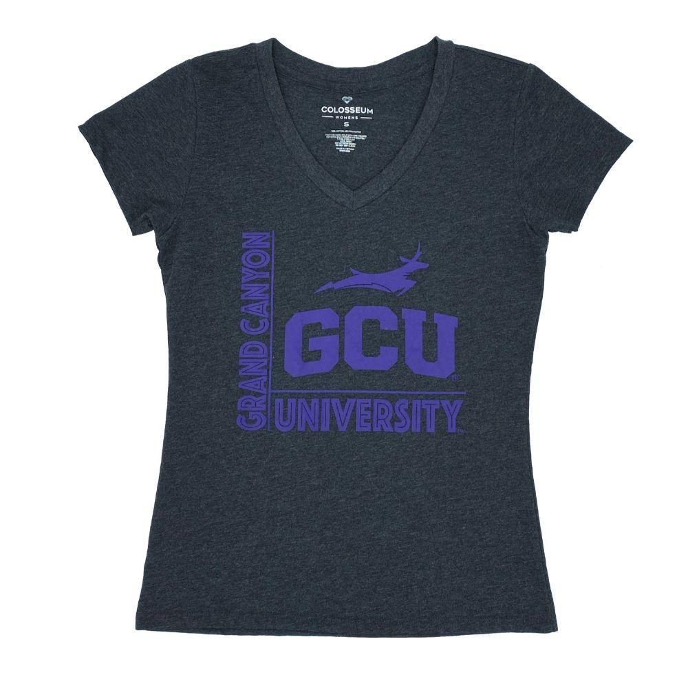 NCAA Grand Canyon Antelopes Women's Colosseum Salerno Vneck - Black