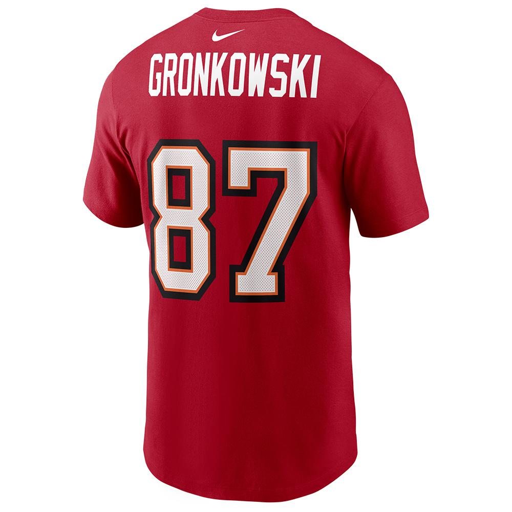 NFL Tampa Bay Buccaneers Rob Gronkowski Nike Super Bowl LV Name & Number Tee - Red