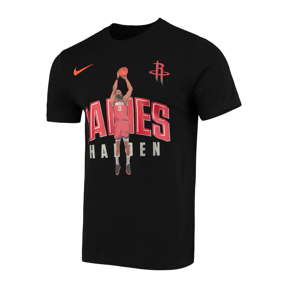 NBA Houston Rockets James Harden Nike Hero Tee - Black