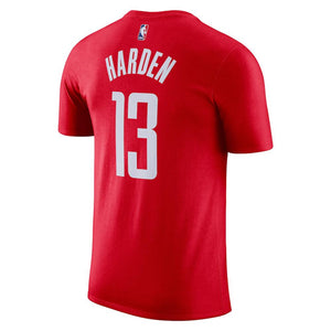 NBA Houston Rockets James Harden Nike Name & Number Tee - Red