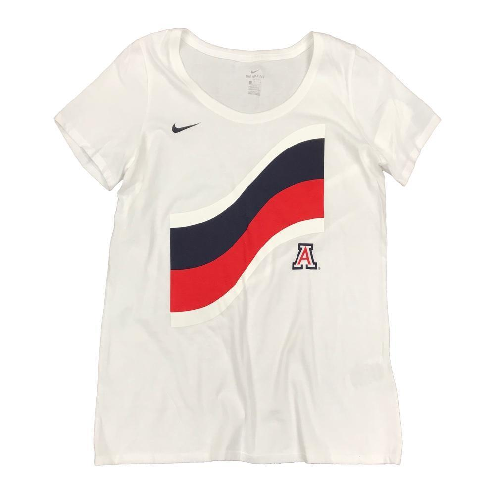 NCAA Arizona Wildcats Women's Nike Flag Tee - White