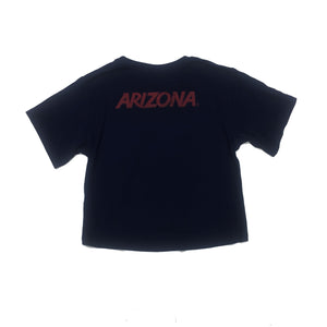 Arizona Wildcats Women's Milky Slik Crop Pocket Tee - Navy