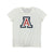 NCAA Arizona Wildcats Women's '47 Fader Letter Tee - White