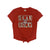 NCAA Arizona Wildcats Women's Zoozatz Victory Front Tie Tee - Red