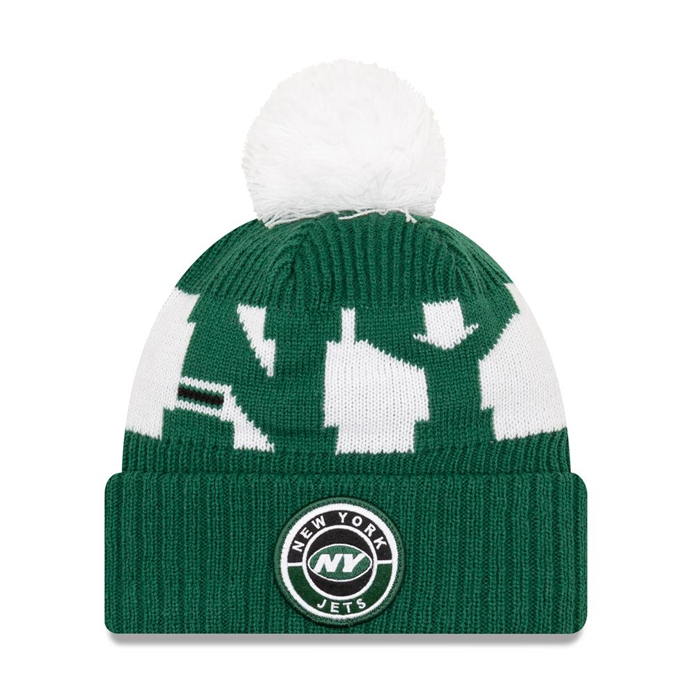 NFL New York Jets New Era 2020 Onfield Sport Knit - Green/White