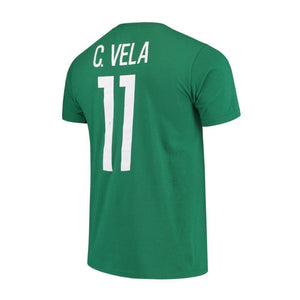 Mexico Carlos Vela Adidas Name & Number Tee - Green