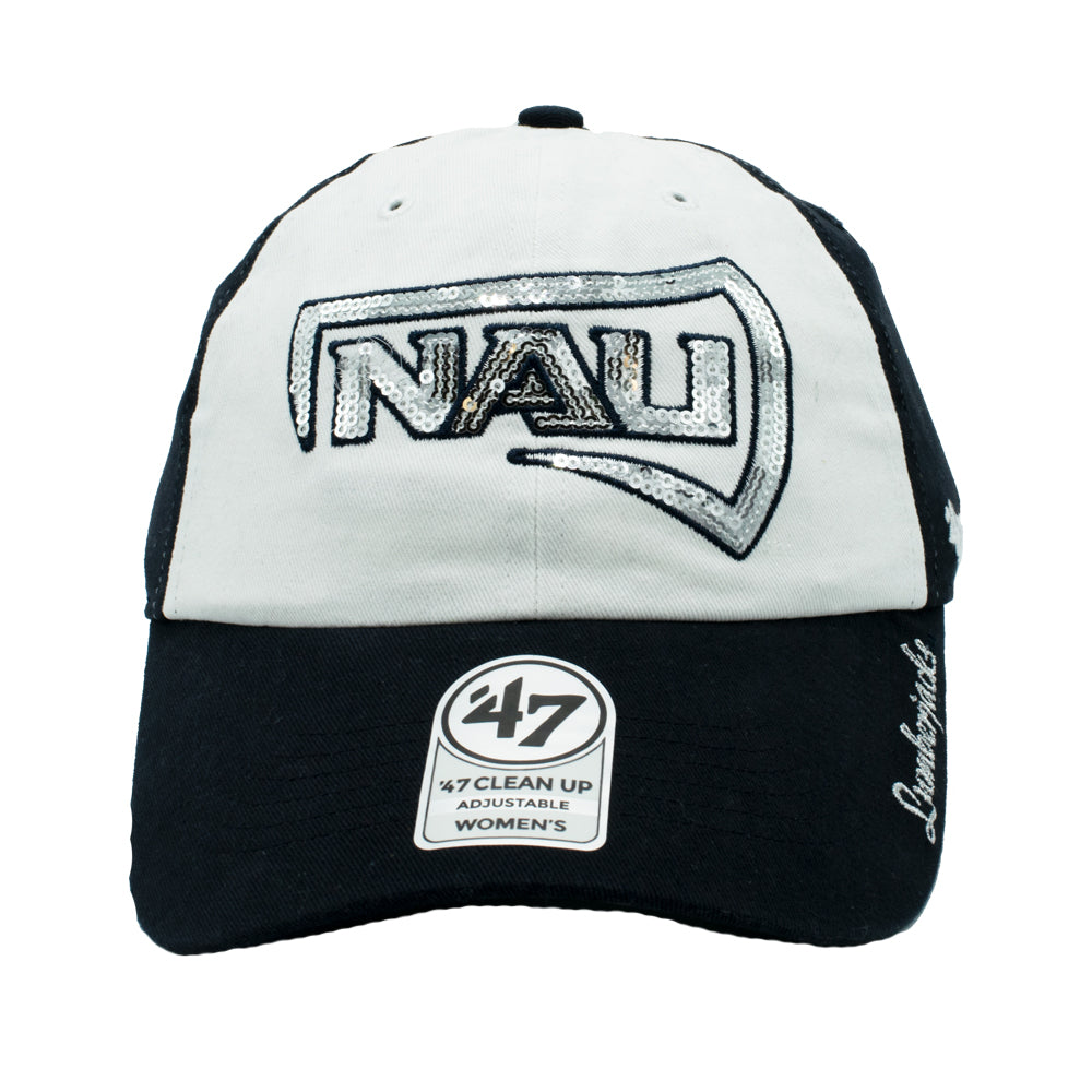 NCAA Northern Arizona Lumberjacks Women's '47 Sparkle Clean Up - White
