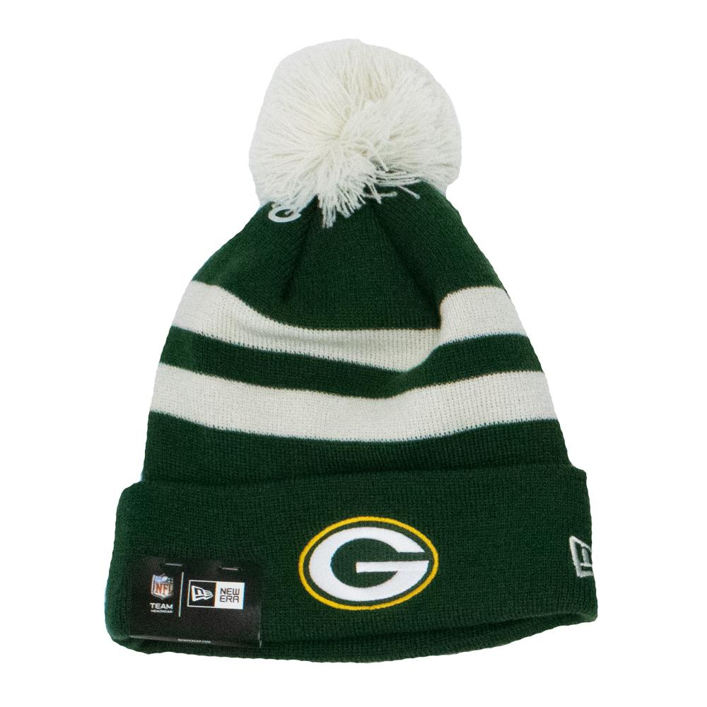 NFL Green Bay Packers New Era Ivory Stripe Knit - Green