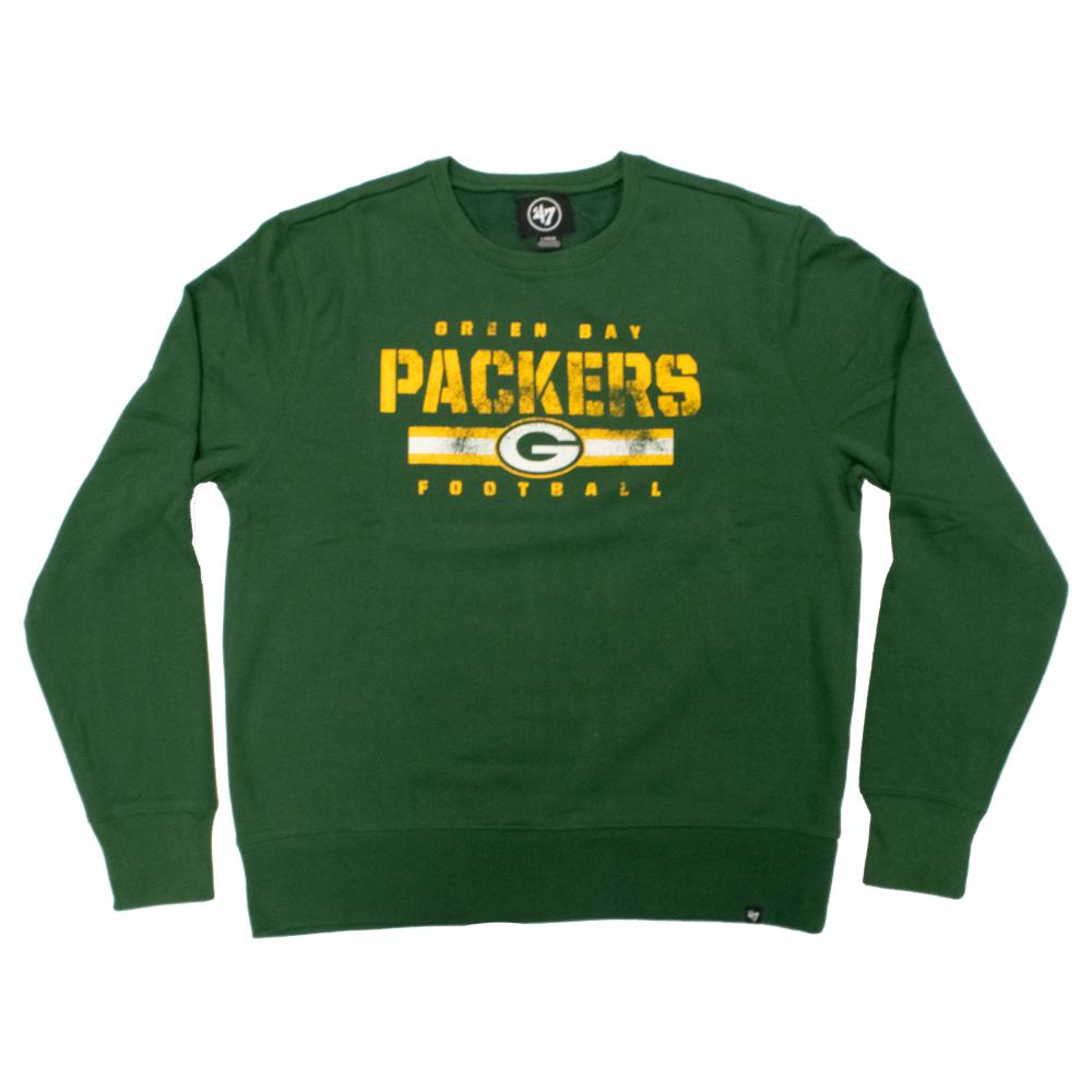 NFL Green Bay Packers '47 Stencil Crew Neck - Green