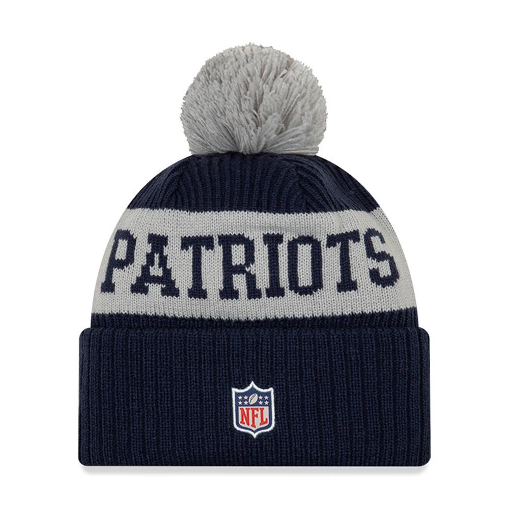 NFL New England Patriots New Era 2020 Onfield Sport Knit - Navy/Gray