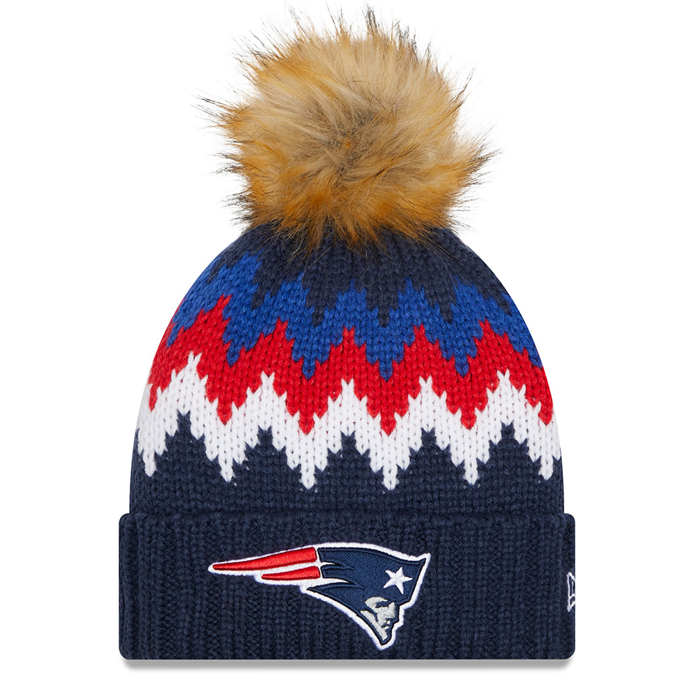 NFL New England Patriots Women's New Era Glacier Knit - Navy