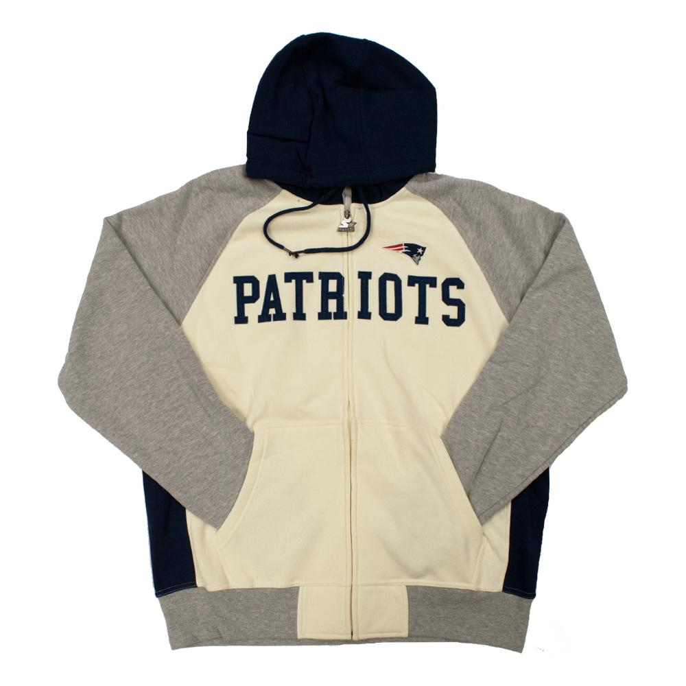 NFL New England Patriots Starter Pinnacle Full-Zip Jacket - White