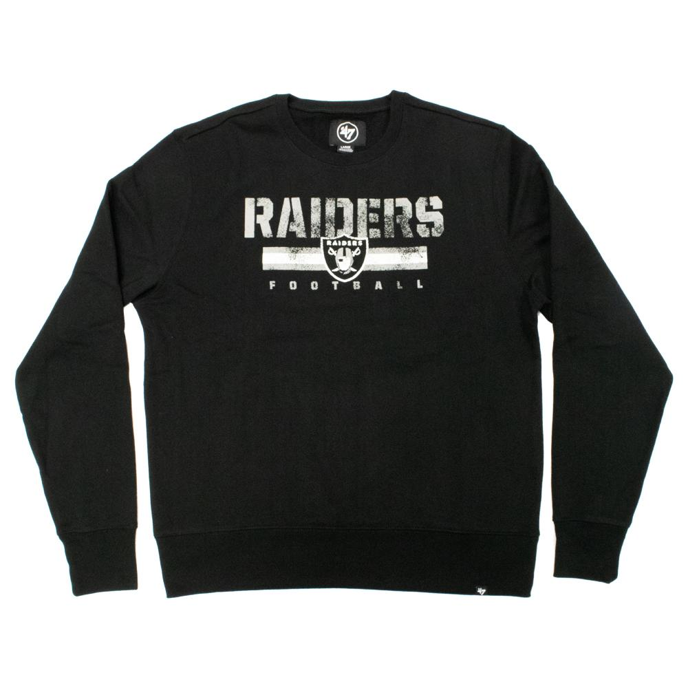 NFL Las Vegas Raiders '47 Stencil Crew Neck - Black