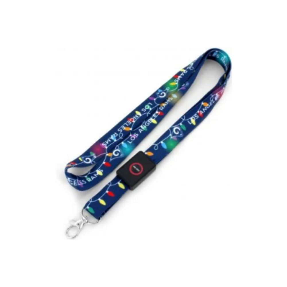 NFL Los Angeles Rams Aminco Light Up Lanyard - Navy