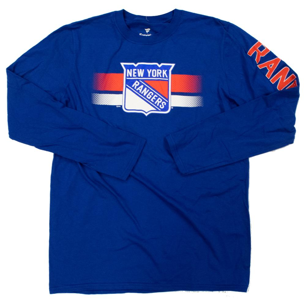 NHL New York Rangers Fanatics Halftime Long Sleeve Tee - Blue