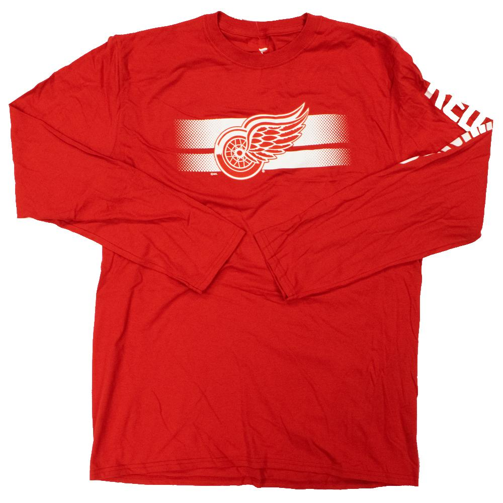 NHL Detroit Redwings Fanatics Halftime Long Sleeve Tee - Red