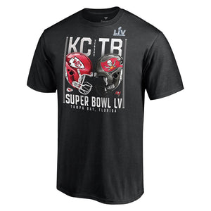 NFL Super Bowl LV Youth Fanatics Dueling Play Clock Tee - Black