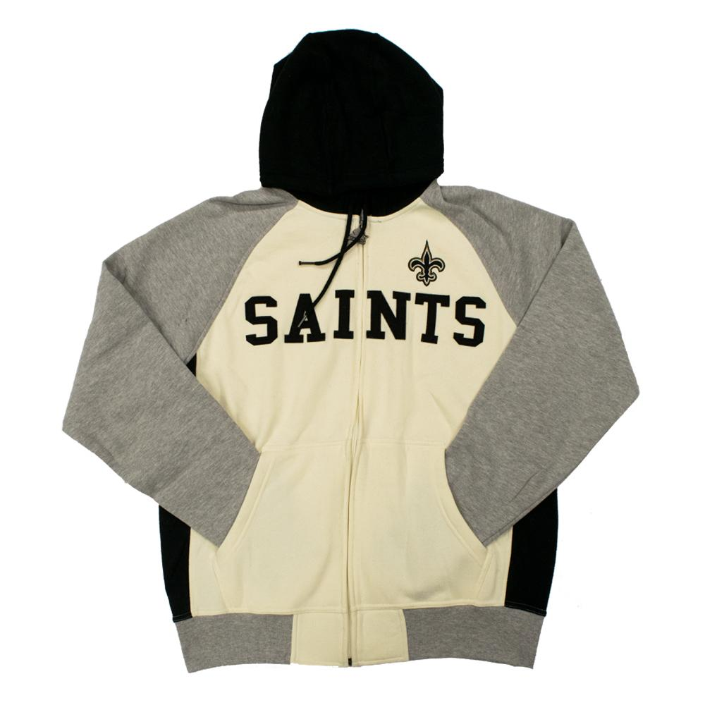 NFL New Orleans Saints Starter Pinnacle Full-Zip Jacket - White