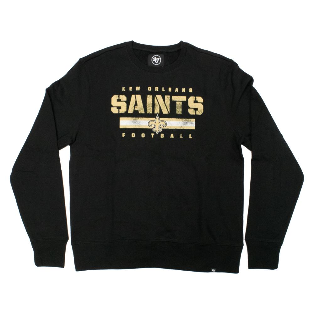 NFL New Orleans Saints '47 Stencil Crew Neck - Black