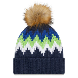 NFL Seattle Seahawks Women's New Era Glacier Knit - Navy