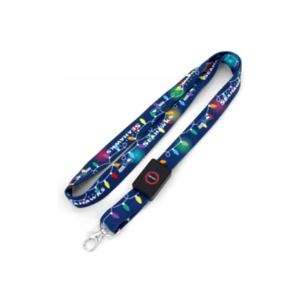 NFL Seattle Seahawks Aminco Light Up Lanyard - Navy