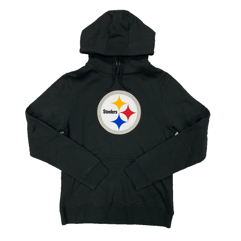 NFL Pittsburgh Steelers Fanatics Logo Tech Raised Patch Hoodie - Black