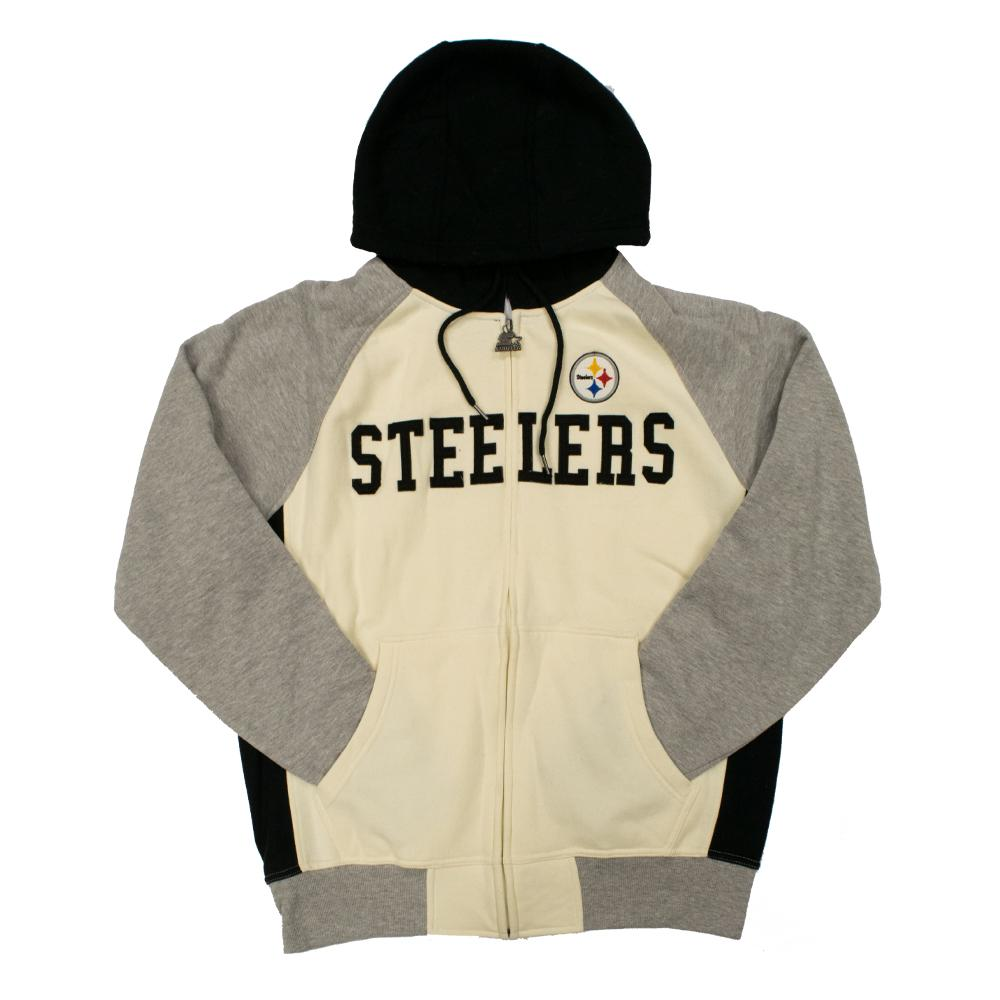 NFL Pittsburgh Steelers Starter Pinnacle Full-Zip Jacket - White