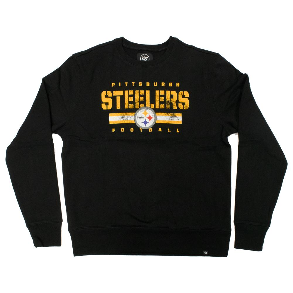 NFL Pittsburgh Steelers '47 Stencil Crew Neck - Black