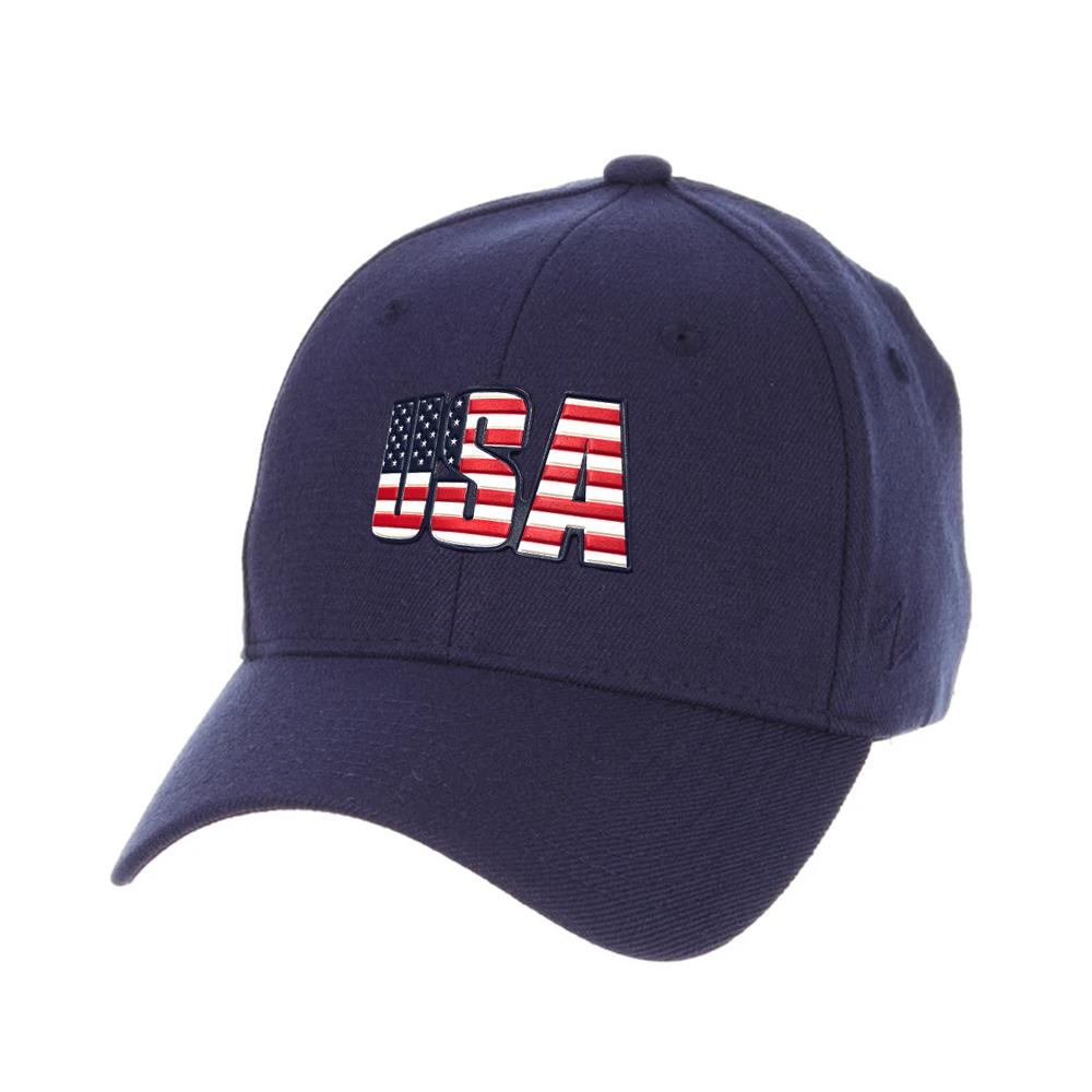 USA Flag Zephyr Core ZH Hat - Navy