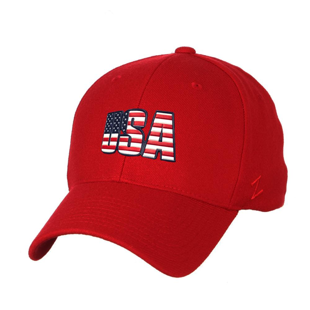 USA Flag Zephyr Core ZH Hat - Red