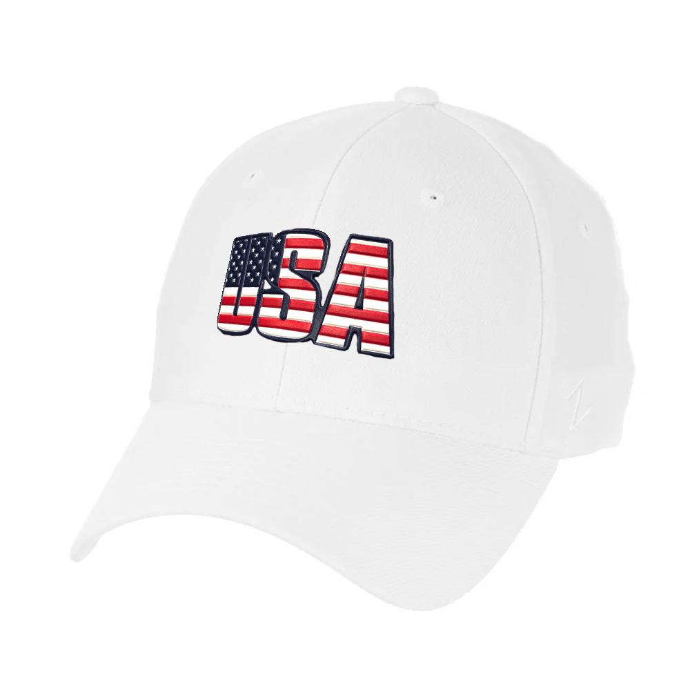 Copy of USA Flag Zephyr Core ZH Hat - White