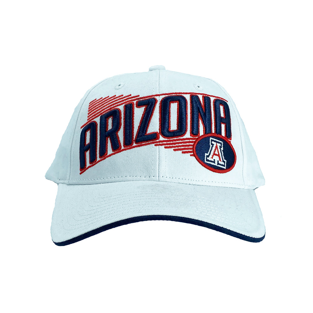 NCAA Arizona Wildcats Zephyr Crossover Adjustable Hat - White