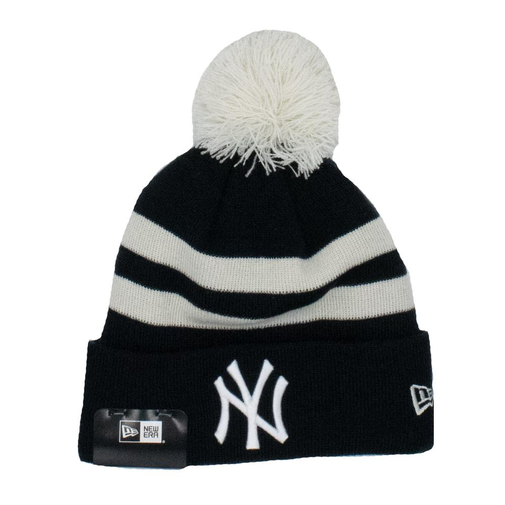 MLB New York Yankees New Era Ivory Stripe Knit - Navy