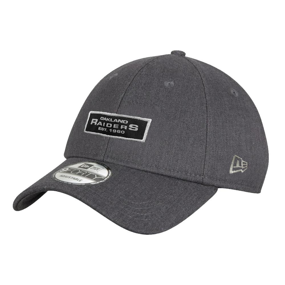 NFL Oakland Raiders New Era Black Label 9FORTY - Gray