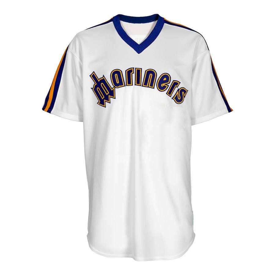 MLB Seattle Mariners Majestic Cooperstown Replica Jersey - White