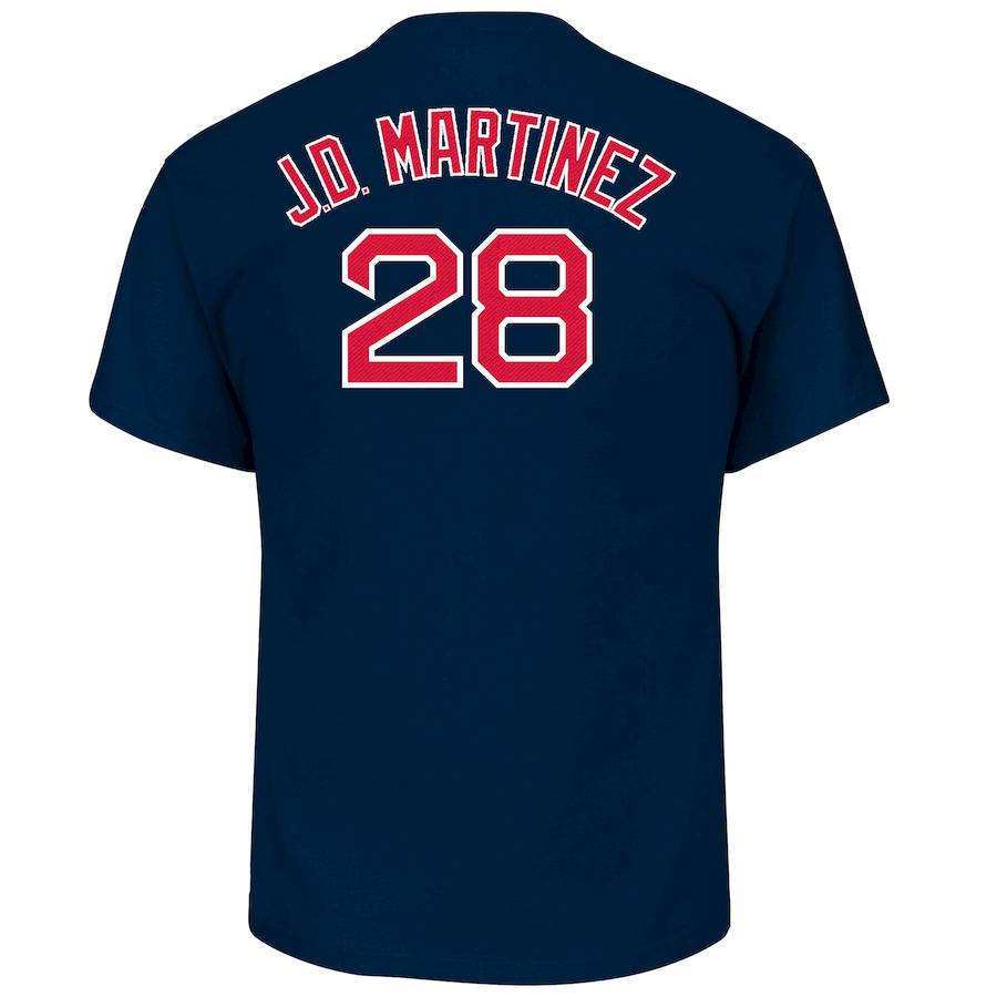 MLB Boston Red Sox JD Martinez Majestic Name & Number Tee - Navy