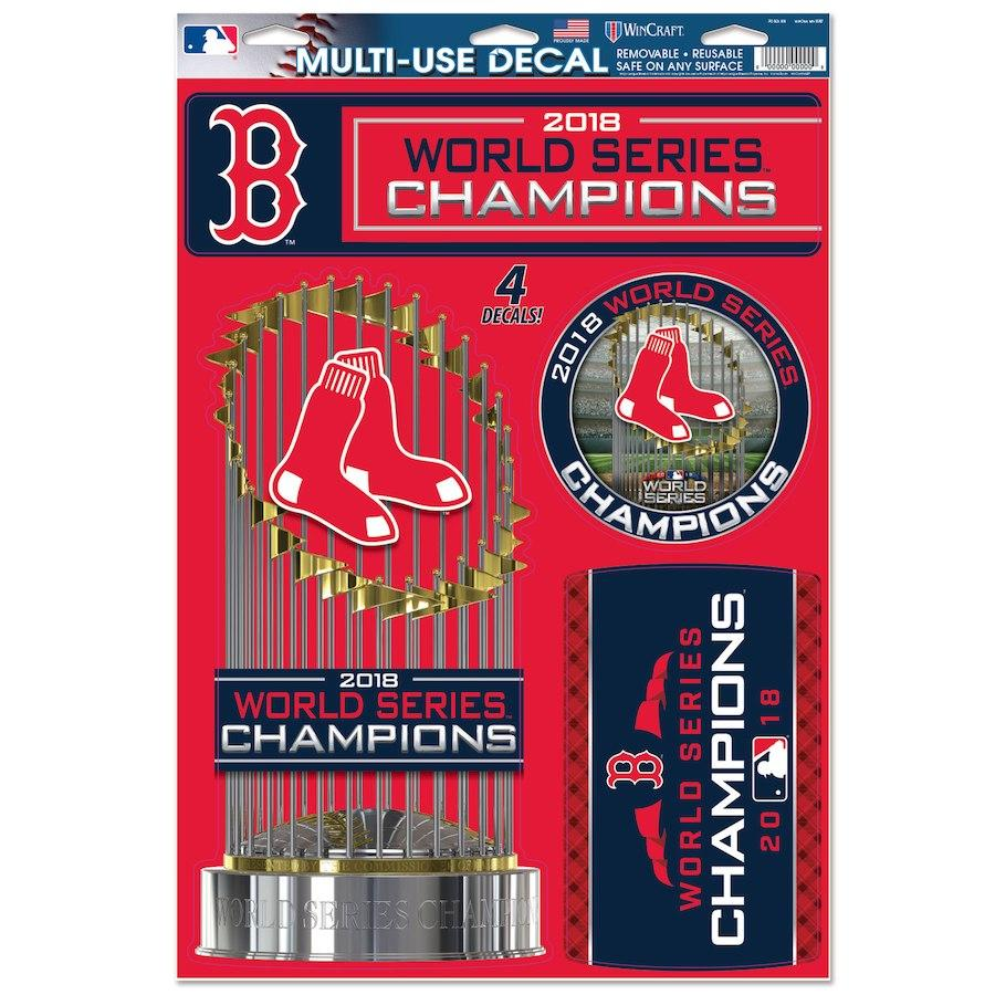 MLB Boston Red Sox WinCraft 2018 World Series Champion 11x17 Multi-Use Decal
