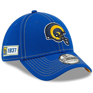 NFL Los Angeles Rams New Era 2019 Sideline Road 39THIRTY - Blue